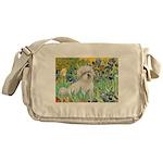 Irises / Coton Messenger Bag
