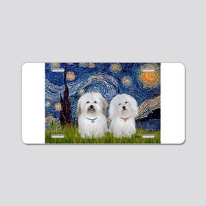 Starry / Coton Pair Aluminum License Plate
