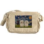 Starry / Coton Pair Messenger Bag
