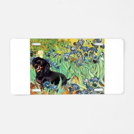 Irises & Dachshund (BT4) Aluminum License Plate
