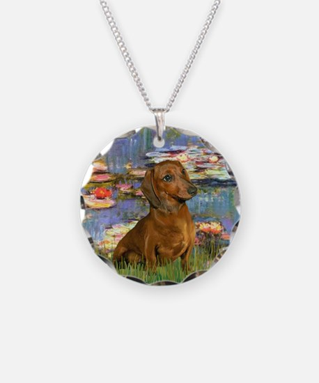 Lilies & Dachshund Necklace
