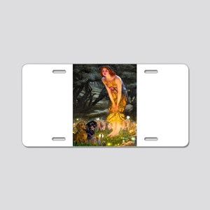 Fairies / Dachshund Aluminum License Plate