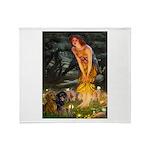 Fairies / Dachshund Throw Blanket