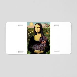 Mona / Dachshund (wire) Aluminum License Plate