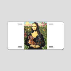 Mona Lisa's Dachshunds Aluminum License Plate