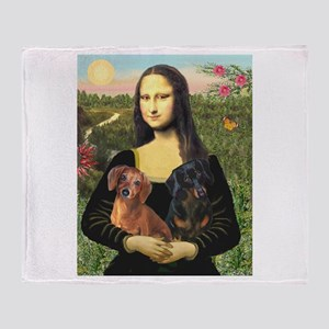 Mona Lisa's Dachshunds Throw Blanket