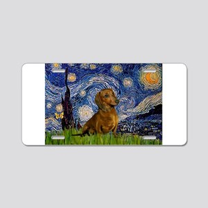 Starry / Dachshund Aluminum License Plate
