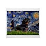 Starry Night Dachshund Throw Blanket
