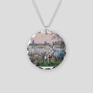 Seine / Dalmatian #1 Necklace Circle Charm