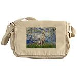 Lilies / Dalmatian #1 Messenger Bag