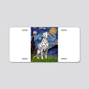 Starry / Dalmatian #1 Aluminum License Plate