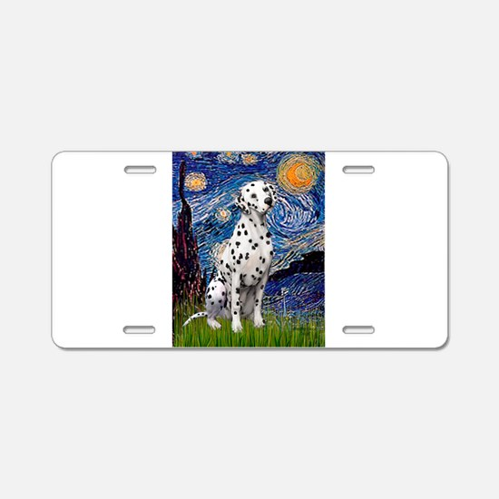 Starry / Dalmatian #1 Aluminum License Plate