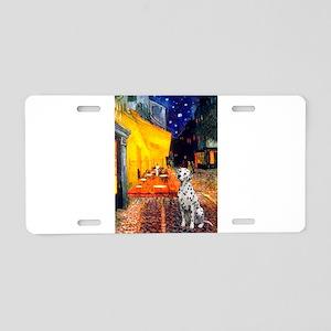 Cafe / Dalmatian #1 Aluminum License Plate