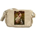 Windflowers / Dalmatian #1 Messenger Bag