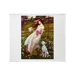 Windflowers / Dalmatian #1 Throw Blanket