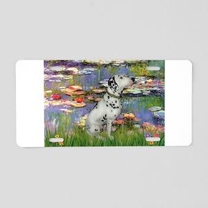 Lilies / Dalmation Aluminum License Plate