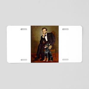Lincoln's Doberman Aluminum License Plate