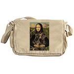 Mona's 2 Dobies Messenger Bag
