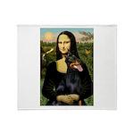 Mona's Doberman Throw Blanket
