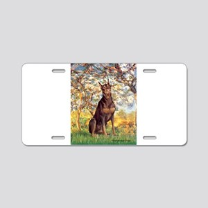 Spring / Doberman Aluminum License Plate