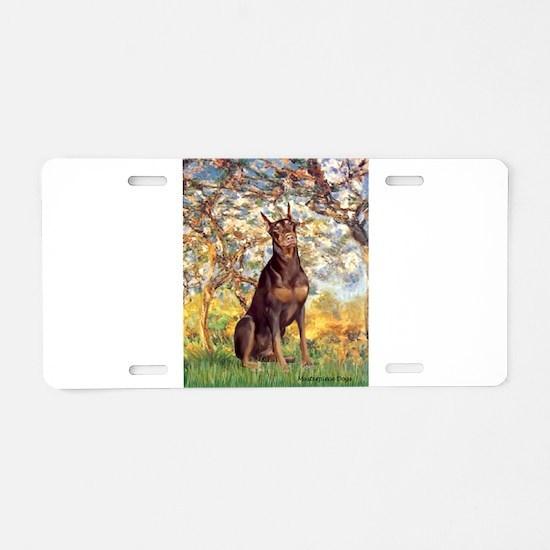 Spring / Doberman Aluminum License Plate