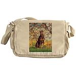 Spring / Doberman Messenger Bag