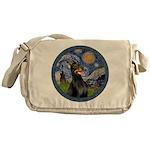 Starry Night Doberman (#1) Messenger Bag