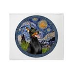 Starry Night Doberman (#1) Throw Blanket
