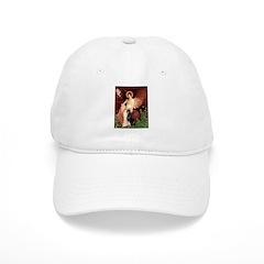 Seated Angel & Dobie Baseball Cap