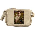 Windflowers / Doberman Messenger Bag
