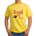 No Talking Football Yellow T-Shirt