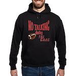 No Talking Football Hoodie (dark)