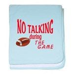 No Talking Football baby blanket