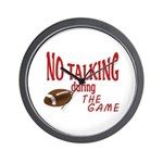 No Talking Football Wall Clock