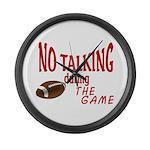 No Talking Football Large Wall Clock
