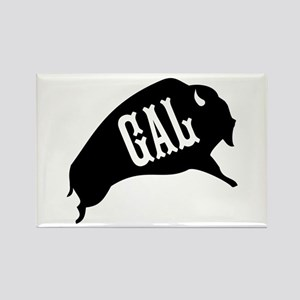 Buffalo Gal Rectangle Magnet