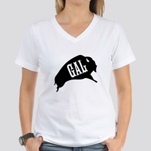 Buffalo Gal Women's V-Neck T-Shirt