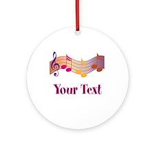 Music Notes Piano Custom Ornament Gift