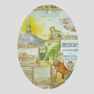 Distillerie du Montbart Absin Ornament (Oval)