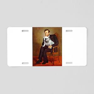 Lincoln's English Bulldog Aluminum License Plate