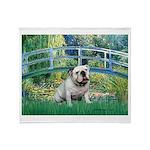 Bridge / English Bulldog (#9) Throw Blanket