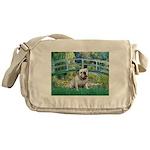 Bridge / English Bulldog (#9) Messenger Bag