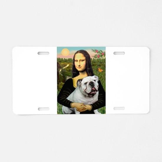 Mona's English Bulldog Aluminum License Plate