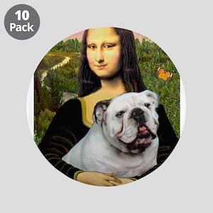 "Mona's English Bulldog 3.5"" Button (10 pack)"