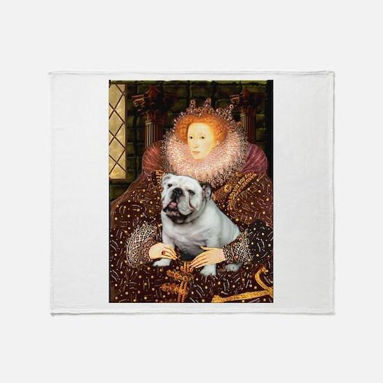 The Queen's English BUlldog Throw Blanket