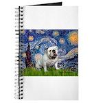 Starry Night English Bulldog Journal