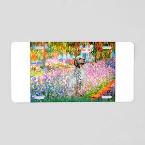 Garden / English Setter Aluminum License Plate