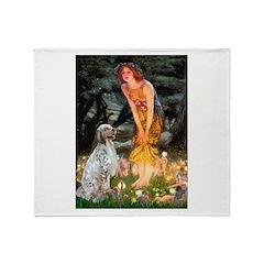 Fairies / English Setter Throw Blanket
