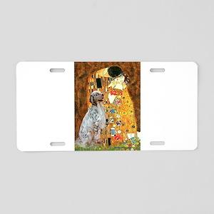 The Kiss / English Setter Aluminum License Plate