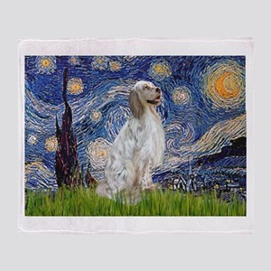 English Setter / Starry Night Throw Blanket